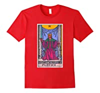 Justice Tarot Card Psychic Occult Metaphysical Shirts Red