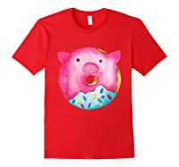 Donut Pig Shirts Red