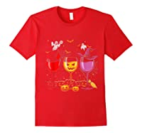 Pumpkin Halloween Wine Glasses Funny Shirts Red