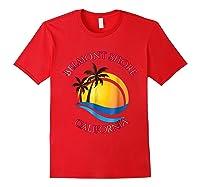 Belmont Shore Beach Surf California Gift Shirts Red