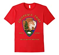 Chippewa Tribe Native American Indian Pride Respect Honor T-shirt Red
