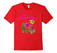 Sunshine, Flowers And Honey Bees Shirts Red