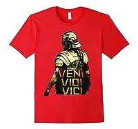 Veni Vidi Vici Spqr Roman Empire Quote Shirts Red