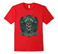 S Us Navy - Honor, Courage, Committ T-shirt For Patriots Red