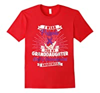 Cleft & Craniofacial Awareness Purple For Granddaughter Ts Shirts Red