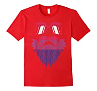 Weed Beard Funny Cannabis Lgbt Bisexual Pride Stoner Gift Shirts Red