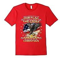 Christian Patriotic American Flag Shirts Red