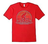 Bmx Retro Vintage 80s Style Mountain Bike Rider Gift T-shirt Red
