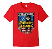Worlds Best Rottweiler Grandpa Shirts Red