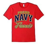 Proud Navy Fiance Shirt Red