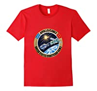 Apollo-soyuz Rendezvous Patch T-shirt Nasa History Red