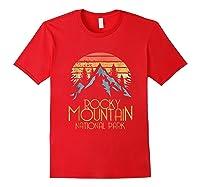 Vintage Rocky Mountains National Park Colorado Retro Shirts Red