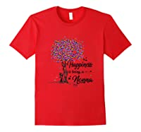 Happiness Is Being A Nonna Tshirt Cute Mother\\\'s Day Gifts T-shirt Red