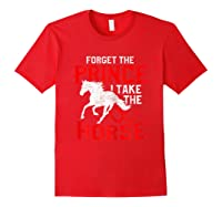 Rider Prefers Horses Shirts Red