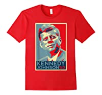 Kennedy Johnson 1960 Retro Campaign 4th Of July President Shirts Red