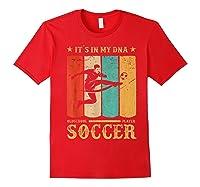 Retro Vintage Soccer Design 1970s T-shirt Red