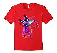 Hummingbird Purple Ribbon Pancreatic Cancer Awareness Shirts Red