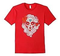 Sugar Skull Dia De Los Muertos Halloween Horror Premium T-shirt Red