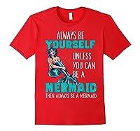 Cute Mermaid Gifts N Girls Mermaids Lover Gift Daughter Shirts Red
