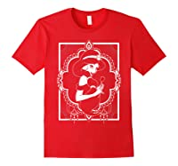 Disney Aladdin Jasmine Ornate Frame Rose Graphic T-shirt Red