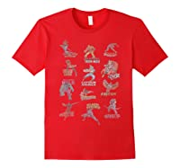 Avengers Team Logos Shirts Red