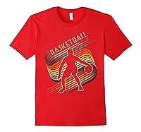 Vintage Retro Basketball Shirt Colorful Tshirt Red