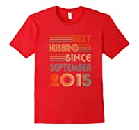 5th Wedding Anniversary Gift Husband Since September 2015 Shirts Red