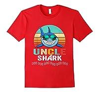 Uncle Shark Doo Doo T-shirt Red