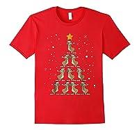 Dabbing Kangaroo Christmas Dab Christmas Tree Shirts Red