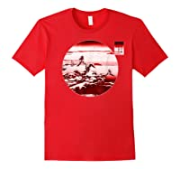 Famous Vintage Japanese Woodblock Art New Year's Sunrise Shirts Red