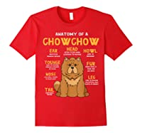Chow Chow Funny Anatomy Of Mom Dad Dog Gift T-shirt Red