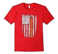 Billiards American Flag T-shirt Billiard Ts Red