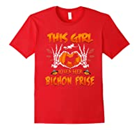 This Girl Loves Her Bichon Frise Dog Halloween Costume Shirts Red