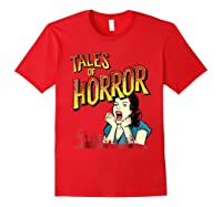 Vintage Horror Movie Poster Funny Halloween Shirts Red