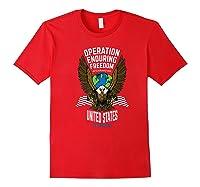 Operation Enduring Freedom Veteran Gift Shirts Red