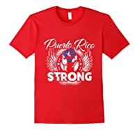 Puerto Rico Strong Flag T-shirt - Boricua Pride Love Tee Red