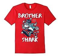 Brother Shark Doo Doo Bro Fun Uncle Birthday Gift Idea Shirts Red