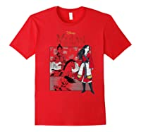 Mulan Live Action Comic Panels Shirts Red