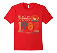 Classic October 1989 Shirt 31st Birthday Gifts 31 Years Old T-shirt Red