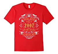 13 Years Old Made In 2007 13th Birthday, Anniversary Gift Shirts Red