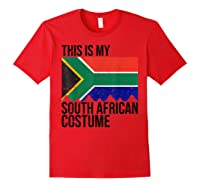 This Is My South African Flag Costume Design For Halloween Shirts Red