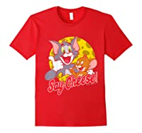 Tom And Jerry Say Cheese Portrait Shirts Red