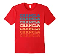 Funny Mexican Mom Gift Chancla T-shirt Red