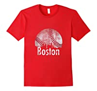 Vintage Boston Baseball Gifts Red Skyline Classic City Tank Top Shirts Red