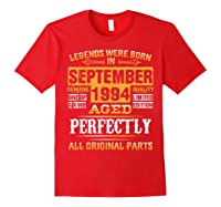 Vintage September 1994 Birthday Gift For 25 Yrs Old D1 Shirts Red