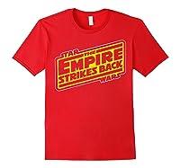 Star Wars The Empire Strikes Back Vintage Logo T-shirt Red