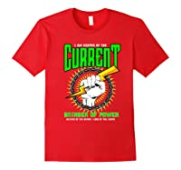 Funny Electrician Gift Electrical Engineer Lineman T-shirt Red