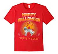Cockapoo Dog Happy Halloween Shirts Red