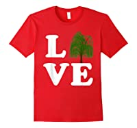 Love Trees Shirt Earth Day Weeping Willow Tee T-shirt Red