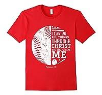 Baseball Gifts Bible Verse Sayings Philippians 413 Shirts Red